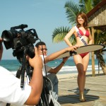 Sesión de video con para el evento Miss Universo Honduras 2010,